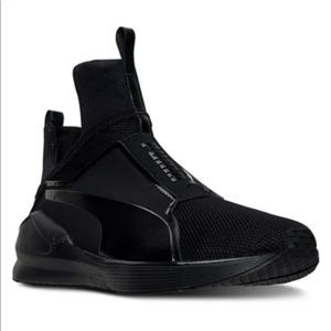 PUMA FENTY by Rihanna black slip on sneakers 5.5